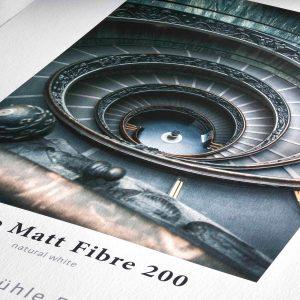 amostra de Hahnemühle Matt Fibre 200g/m2