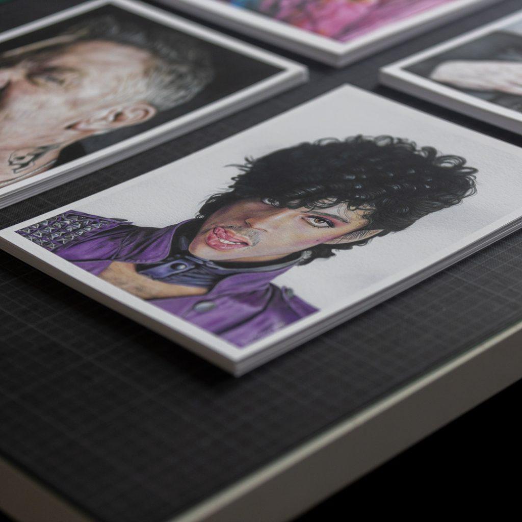 Amostras giclée produzidas na Pigmento Coolectivo para séries limitadas de Vânia Colaço